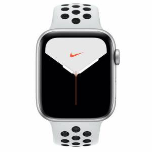 Apple Watch Nike Series 5 44MM Silver Aluminium Case With Pure Platinum/Black Nike Sport Band