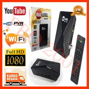 MAXLEVEL MR-360 FULL HD UYDU ALICISI TKGS YOUTUBE