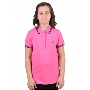 Fred Perry Twin Tipped Polo T-Shirt Pembe (G9762-F730) 42