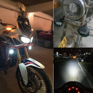 Motosiklet Scooter LED Spot Motosiklet Far 10W Africa Twin