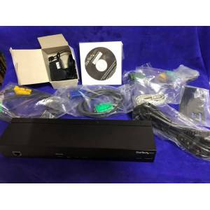 StarTech SV1108IPPWEU 1 Port USB PS/2 VGA IP KVM IP Power Control
