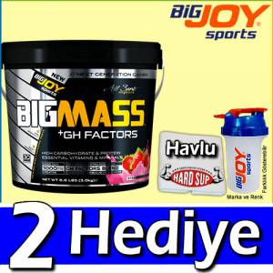 BigJoy Big Mass +GH Factors 3000 Gr Karbonhidrat Tozu Pro Mass Gainer Big Joy
