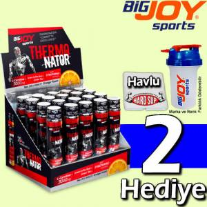 BigJoy Thermonator L-Carnitine 20 Shot 3000 Mg L Karnitin Portakal Aromalı Big JOY Shaker + Havlu