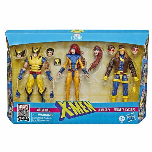 Hasbro Marvel Legends X-Men Jean Grey, Cyclops, and Wolverine 6-Inch Action Figure 3-Pack