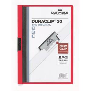 Durable Duraclip Original 30 Sf. Kapasiteli - Kirmizi 2200-K  Durable