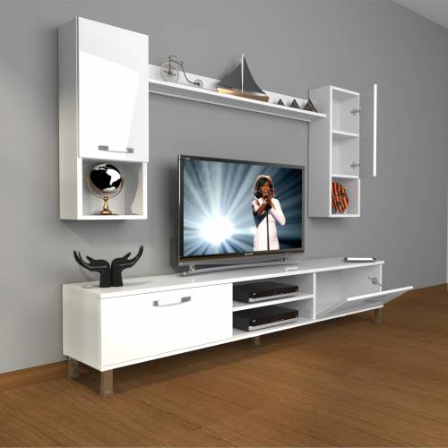 DECORAKTİV EKO 5DA MDF DVD KROM AYAKLI TV ÜNİTESİ TV SEHPASI TV UNİTESİ 18682109201244