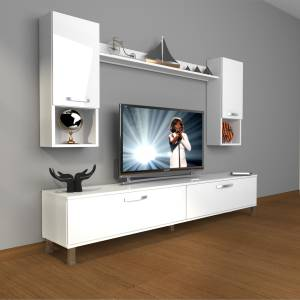 DECORAKTİV EKO 5D MDF STD KROM AYAKLI TV ÜNİTESİ TV SEHPASI TV UNİTESİ 18682109201282
