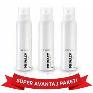 Privacy Bayan Deodorant 150 Ml 3 lü Set