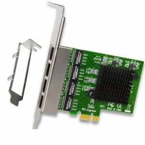 4 Portlu Ethernet Kart Gigabit Network Adapter PCI-E X1/X4/X8/X16 Uyumlu