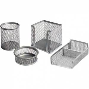 Bigpoint Metal Perfore 4'Lü Set Silver (404)