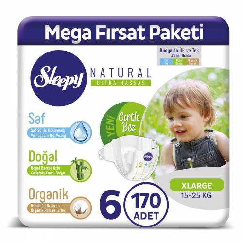 Sleepy Natural 6 Beden 170 Adet