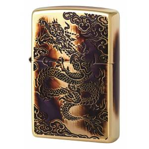 Zippo Çakmak Özel Seri 2 Dragon Cloud Burning Gold ZA3-35d