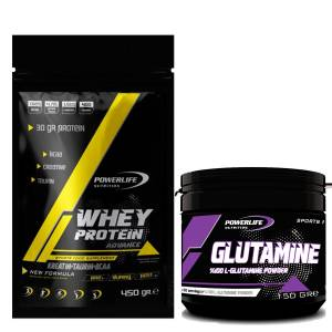 Powerlife Whey Protein Advance 450 gr & L-Glutamin 150 gr