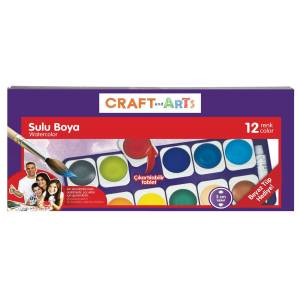 CRAFT AND ARTS 12 Lİ TABLET SULU BOYA U1557KK-12D