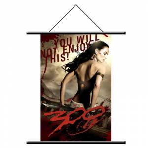 300 Spartan Wall Scroll Queen Gorgo Duvar Afişi