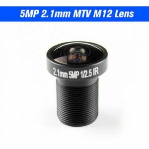 2.1mm Lens Fisheye CCTV Lens 1/2.5 HD 5.0 Megapixel For IP CCTV Cameras Len