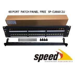 SPEED 2U 48port Cat6 Utp Modüler Boş Patch Panel SP-CU660