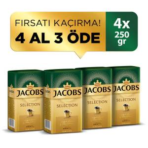 Jacobs Selection Filtre Kahve 250 gr 4 Al 3 Öde