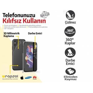 SAMSUNG GALAXY NOTE 10 Lite Ekran Koruyucu - Arka ve Yan Darbe Emici Film -Wrapsol- USA- Full Body