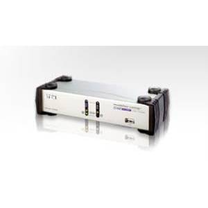 2 Port USB Dual View KVMP Switch (2 port USB Dual KVM Support one PC with Two Display)