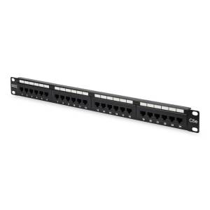 DN-91524U Digitus 19 Inch 24 Port Cat-5E UTP Patch Panel, 50  Mikron, Altın Kontak, Zırhsız