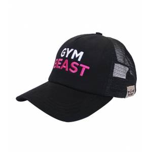 Supplementler.com Gym Beast Fileli Şapka Siyah Pembe Yazı STANDART