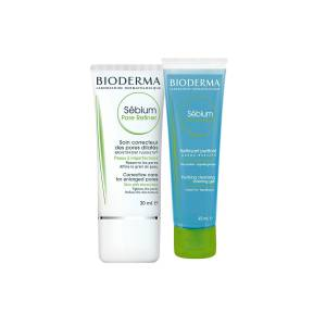 Bioderma Sebium Pore Refiner 30ml + Sebium Foaming Gel 45ml PUANLI