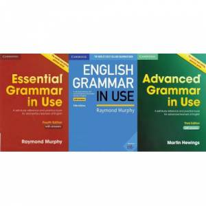 Essential Grammar in USE, English Grammar in USE and Advanced Grammar in use with CDs and answers