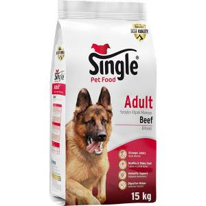 Single Biftekli Köpek Maması 15 KG