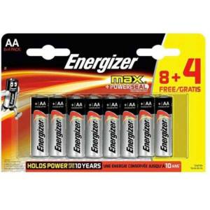Energizer Alkaline Max Power 8+4 AA Pil