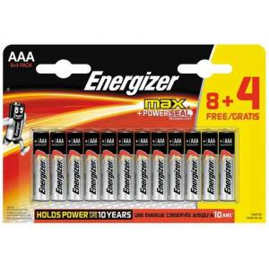 Energizer Alkaline Max Power 8+4 AAA İnce Pil