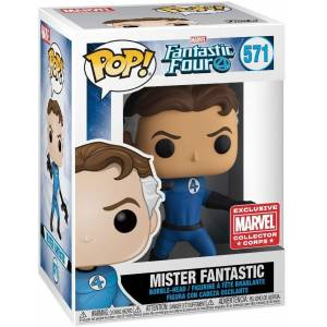 Funko Pop Marvel Fantastic Mister Fantastic Fosforlu Exclusive Figür