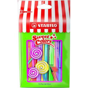 Stabilo Pen 68 Mini Sweet Colors 15'li Özel Paket - 1 mm Uç