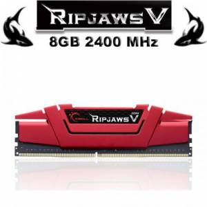 GSKILL 8GB DDR4 2400MHZ CL15 PC RAM Ripjaws V F4-2400C15S-8GVR