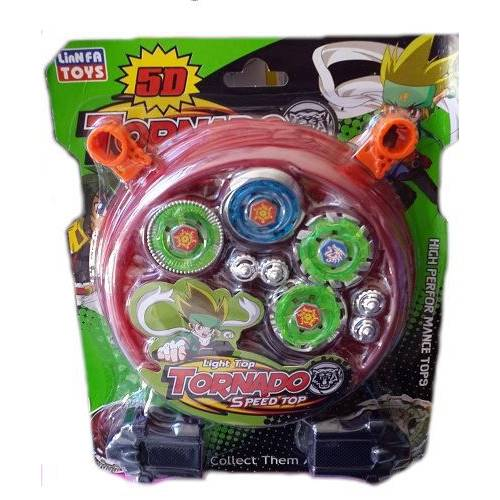 Beyblade Metal Fushion Tornado Clash 5D Arenalı 4 lü Topaç Set