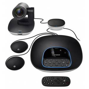 Logitech Group Video Conferencing Bundle with Expansion Mics, HD 1080p Camera, Speakerphone