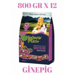 Nature Plan Ginepig Guinea Pig Yemi 800 Gr X 12 ADET