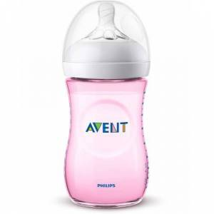 Philips Avent Natural BPA İçermeyen Pembe PP Biberon 260ml