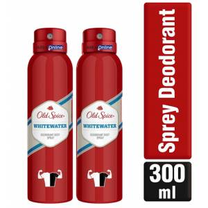 Old Spice Sprey Deodorant 2X150 ml Whitewater