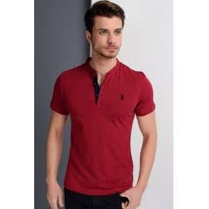 T8560 DEWBERRY T-SHIRT-BORDO