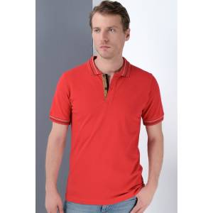 T8567 DEWBERRY ERKEK T-SHIRT-BORDO