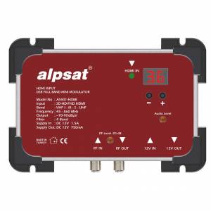 Alpsat AS-401 Mini HDMI RF Modülatör - HDMI Girişli Full Band