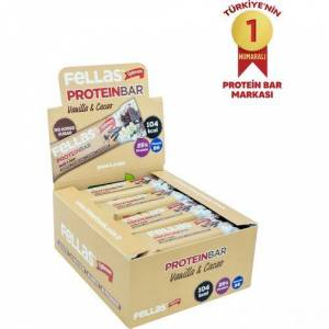 Fellas Protein Bar - Vanilya ve Kakaolu 32 gr x 12 Adet