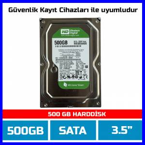 500 GB Western Digital 500GB AV-GP 7-24 GÜVENLİK DİSKİ 32MB 7200 Harddisk-1842-D03