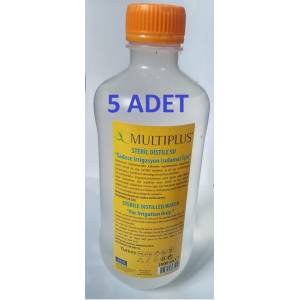 MULTIPLUS STERİL DİSTİLE SAF SU 1000 ML X 5 ADET