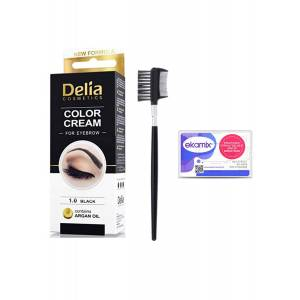 Delia Color 1.0 Black 15ml+ Lionesse Kaş Fırçası 396