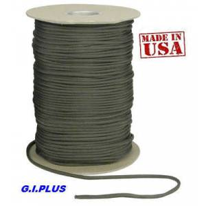 PARAŞÜT İPİ,HAKİ YEŞİL,PARACORD,G.I.PLUS,MADE IN USA.by ROTHCO,BEST PARACORD,olive drab green,4 mm.