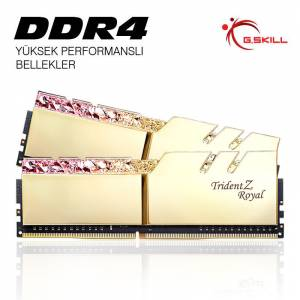 GSKILL 16GB (2X8GB) DDR4 3000MHZ CL16 DUAL KIT PC RAM TRIDENT Z ROYAL GOLD F4-3000C16D-16GTRG