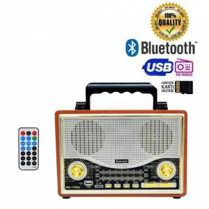 Kemai MD-1706BT Nostaljik Retro Radyo USB Bluetooth SD