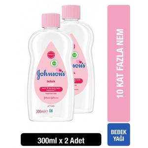 Johnsons Baby Yağ Normal 300 ml x 2 Adet